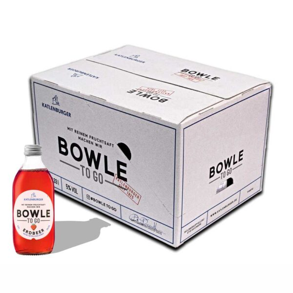 Pachet 12 sticle bowle TO GO Capsuni